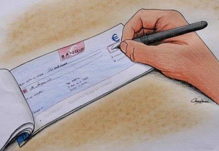 payer par chèque pour un pro