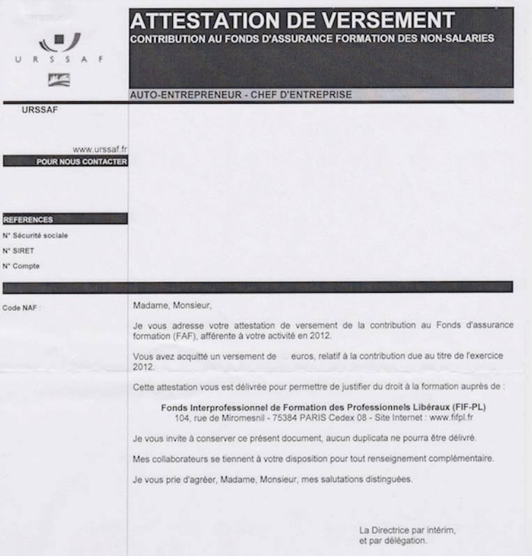 Attestation formation autoentrepreneur - Formation auto entrepreneur chambre de commerce ...
