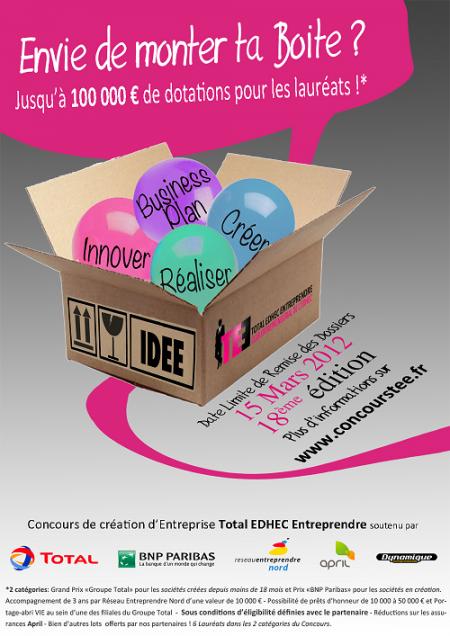 Concours Création d'Entreprise Edhec 2012