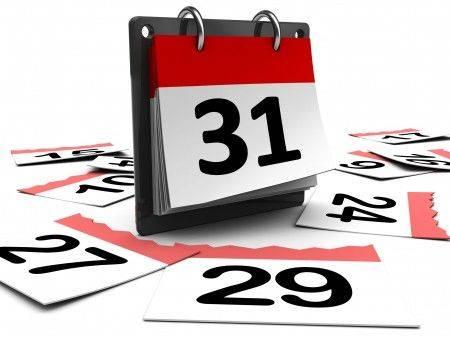 calendrier des échéances