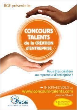 """Flyer du Concours BGE """"Talents de la Création d'Entreprise"""""""