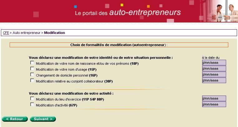 Modifier changer activite autoentrepreneur for Auto entrepreneur idee activite