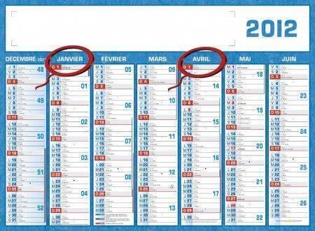 Calendrier des déclarations de chiffre d'affaires 2012
