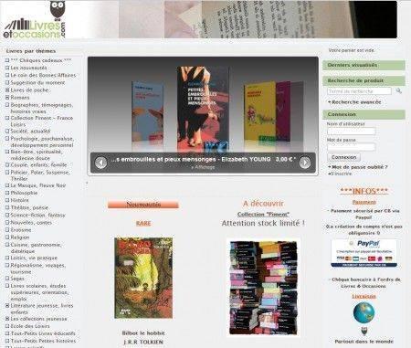 Site e-commerce Livres et Occasions