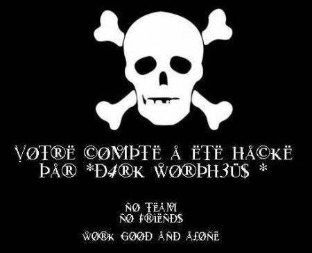 site web piraté